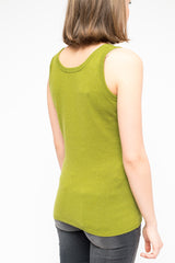 LA Rose tank cashmere green