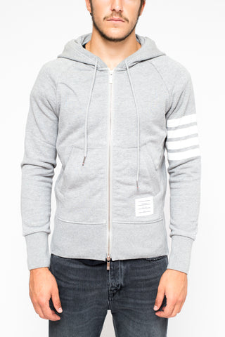 THOM BROWNE Zip up light grey