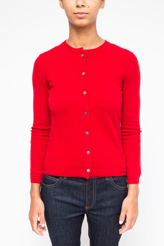La Rose woman knitwear red