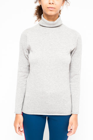 LA ROSE turtle neck cashmere Grey