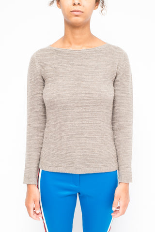 LA ROSE boatneck cashmere Grey