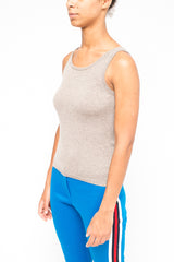 La Rose woman knitwear top grey
