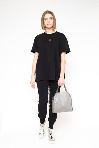 STELLA MCCARTNEY T-shirt over star in front black
