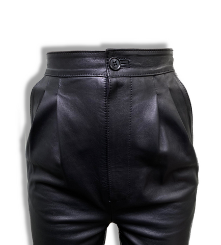 LA ROSE leather trousers