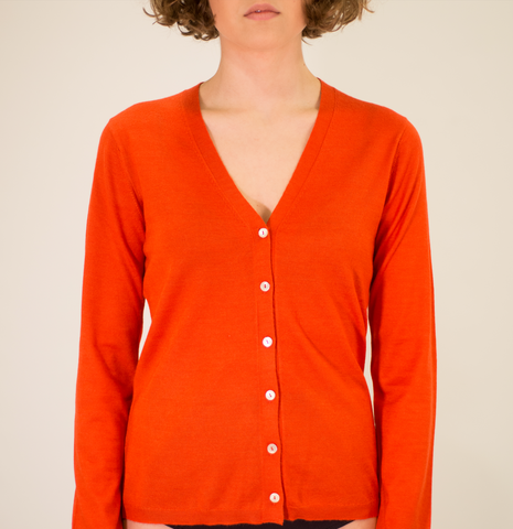 LA ROSE cardigan knit orange
