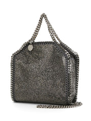 STELLA McCARTNEY tiny Falabella glittered tote ruthenium