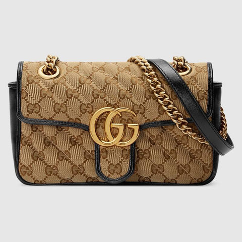 GUCCI marmont beige ebony mini bag