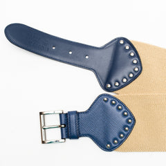 PRADA belt beige+blue