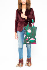 LAURA URBINATI shopper Green+Pink