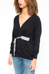 LA ROSE cardigan black