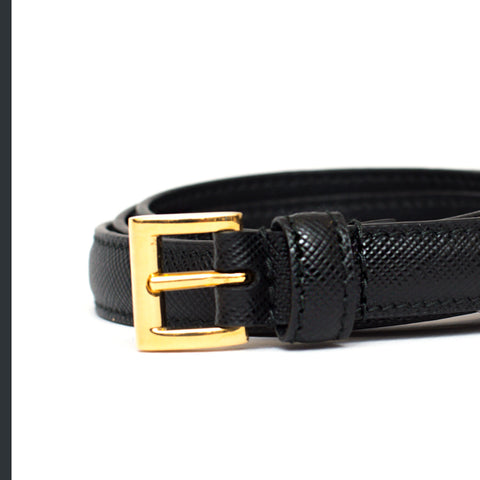 Prada belt black 1cm saffiano black