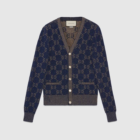 GUCCI knit manica lunga blu brown