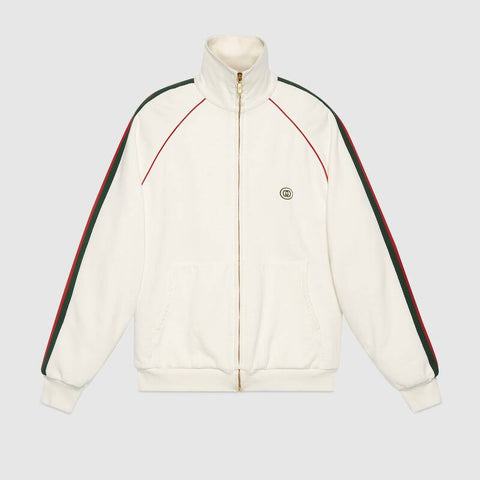 GUCCI Sweatshirt IVORY GREEN RED