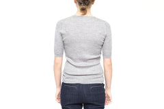 La Rose Crewneck ribs grey
