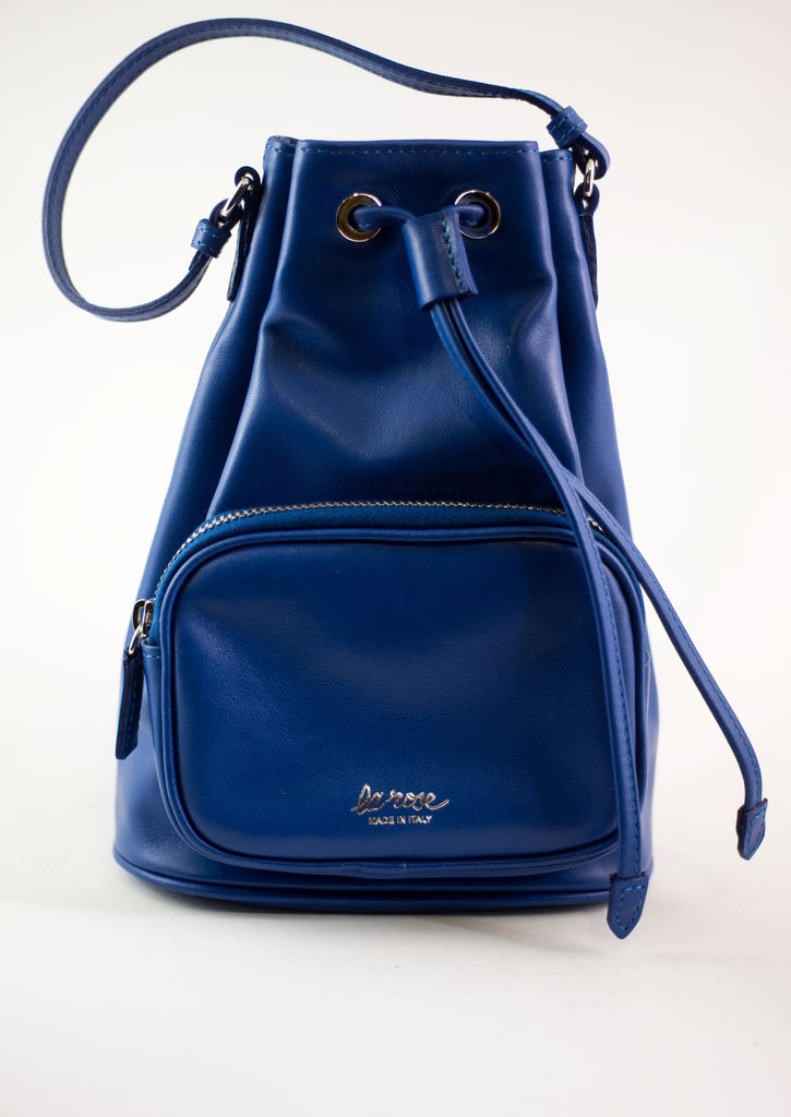 LA ROSE leather satchel bluette