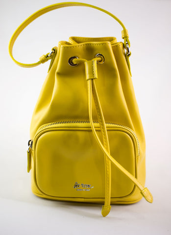 LA ROSE leatehr satchel yellow