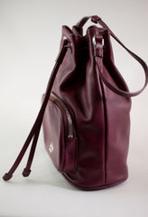 LA ROSE leather satchel cerise