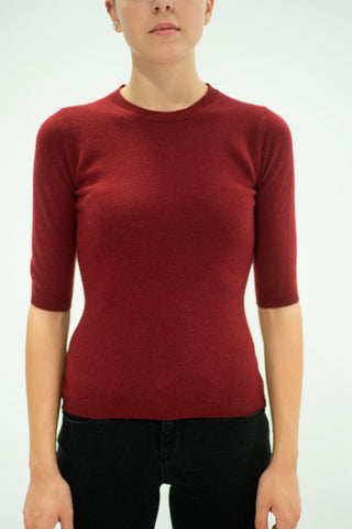 LA ROSE sweater top bordeaux
