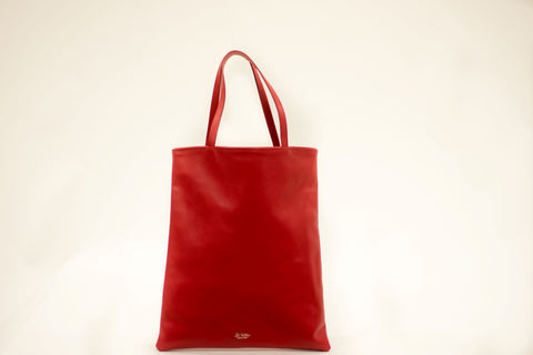 LA ROSE leather bag red