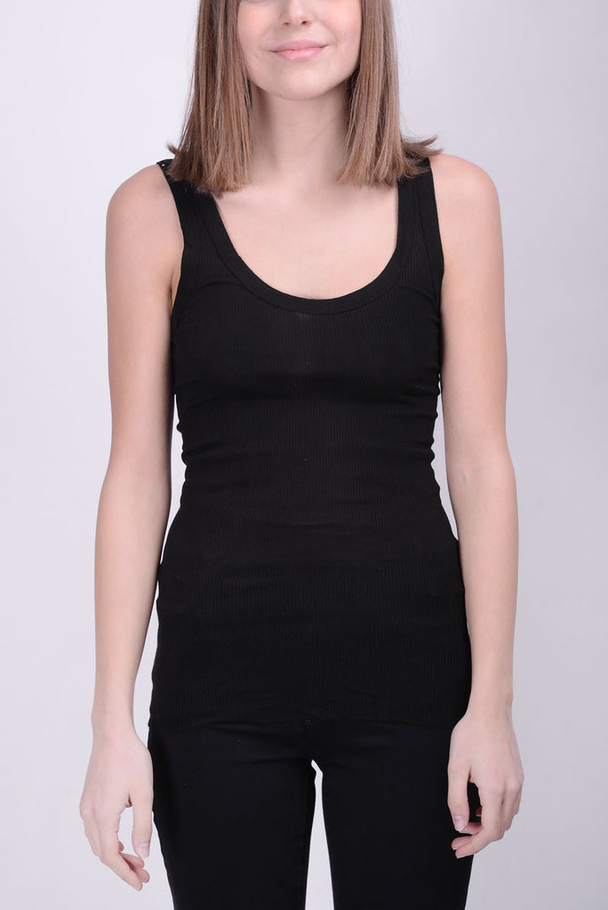 ENZA COSTA Fitted bold tank top