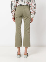 J BRAND Selena mid rise crop bootcut military
