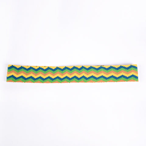 PRADA Hair band zigzag GREEN
