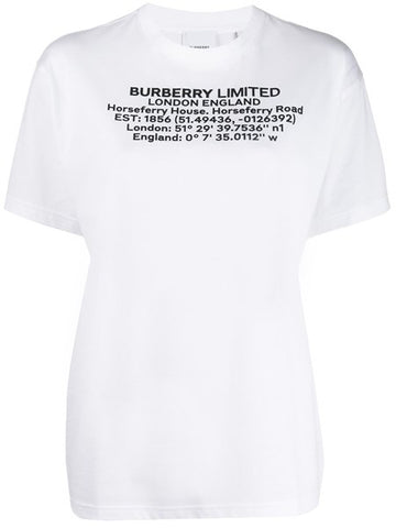 BURBERRY TSHIRT WHITE