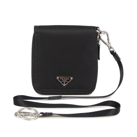 PRADA zip around chain wallet