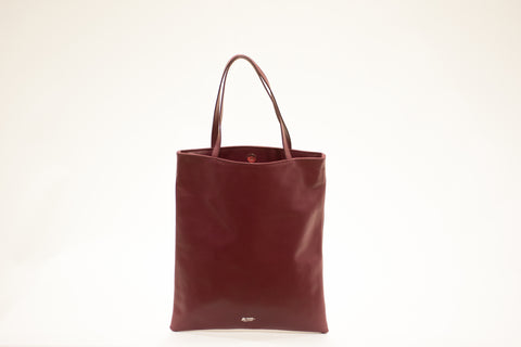 LA ROSE leather bag cerise