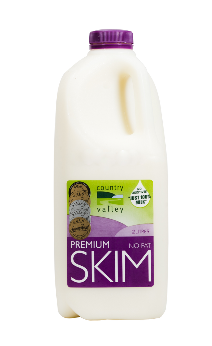 Premium Skim Cream Milk 1L & 2L - Milk - Country Valley - Dairy Goodness