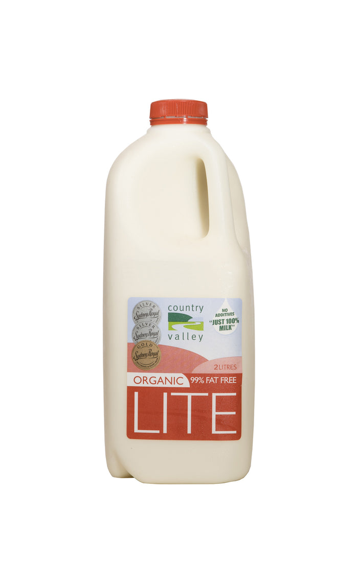 Organic Lite Milk 1L & 2L - Milk - Country Valley - Dairy Goodness