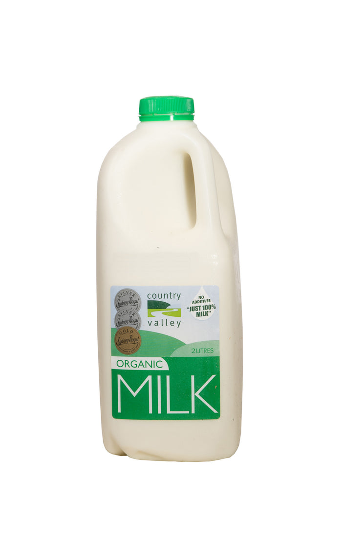 Organic Full Cream Milk 1L & 2L - Milk - Country Valley - Dairy Goodness
