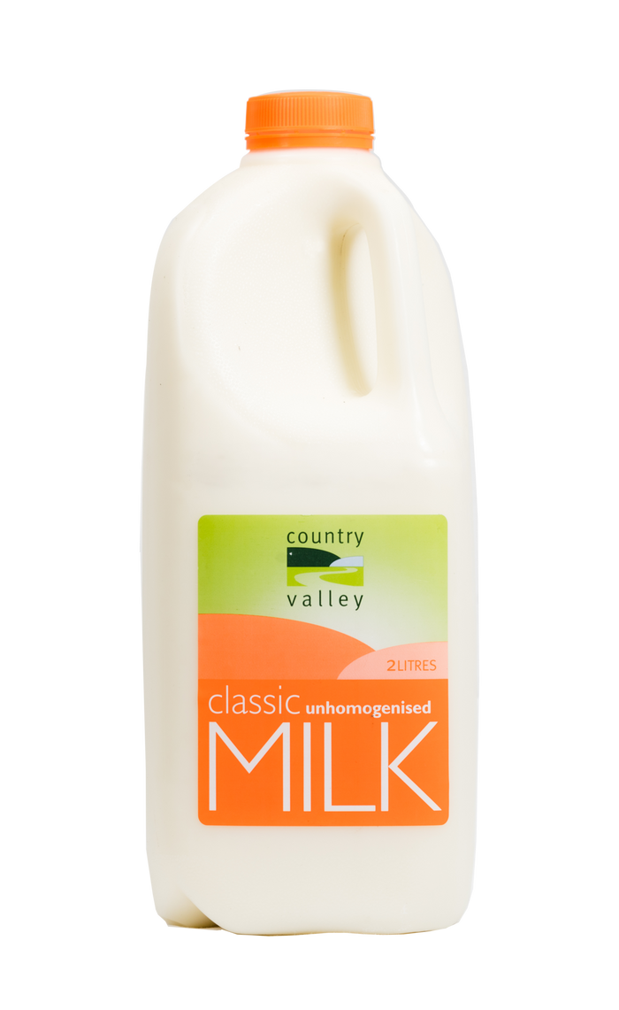 Classic Unhomogenised Milk - Milk - Country Valley - Dairy Goodness