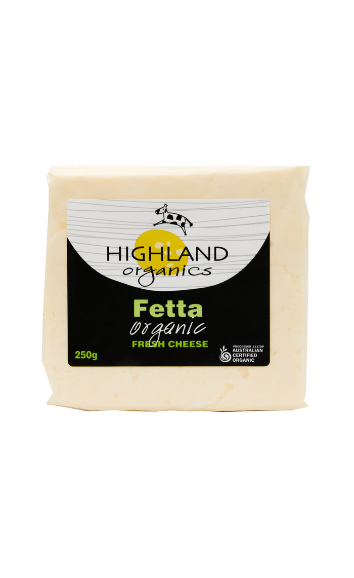 Organic Fetta - Cheese - Highland Organics - Dairy Goodness