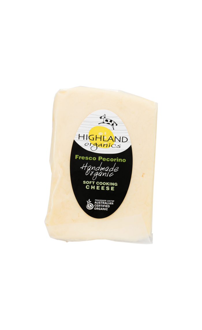 Organic Fresco Pecorino - Cheese - Highland Organics - Dairy Goodness