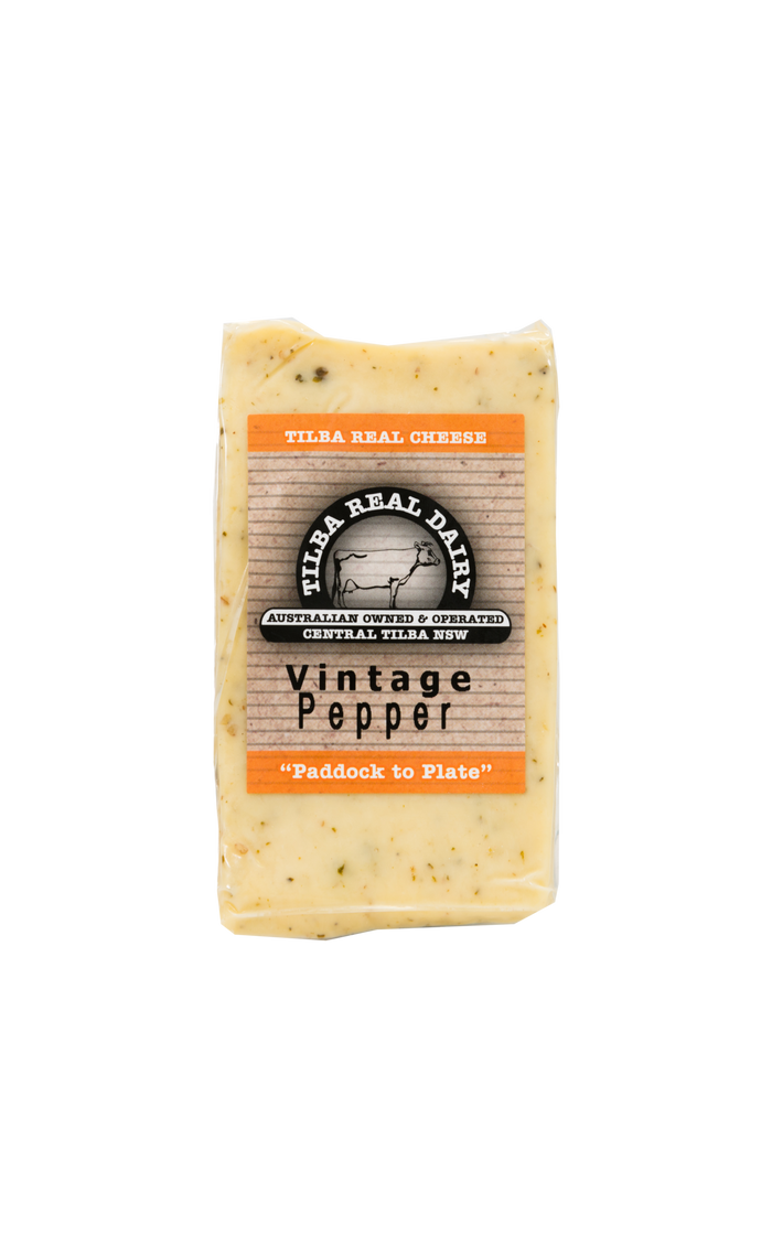 Vintage Pepper - Cheese - Tilba Real Dairy - Dairy Goodness