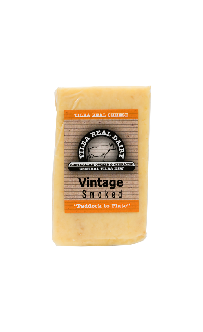 Vintage Cheddar Smoked - Cheese - Tilba Real Dairy - Dairy Goodness