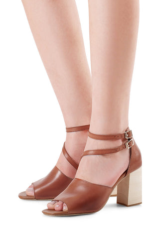 Leonie Burnished Leather Sandals