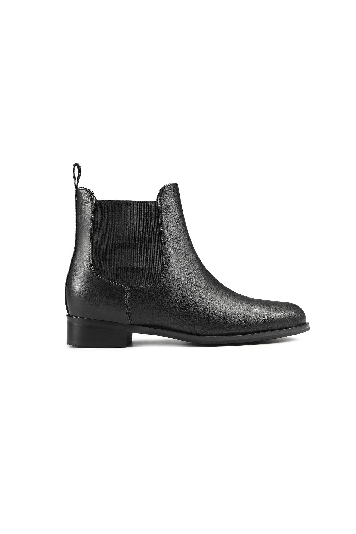 Jeanne Leather Booties