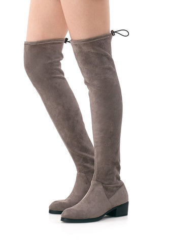 Valerie Stretch Suede Over-the-knee Boots