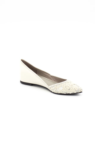 Dione Leather and Lace Flats