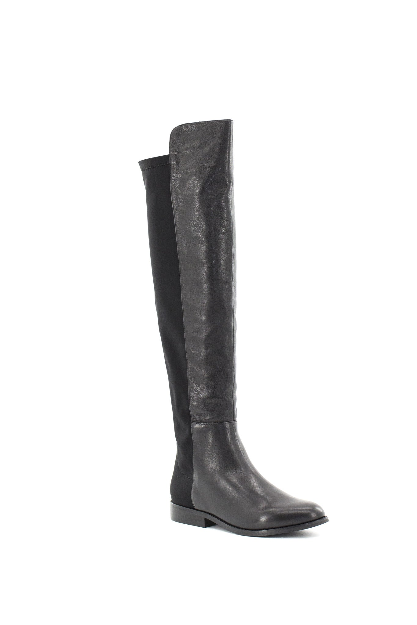 Penelope Leather and Lycra Over-the-knee Boots