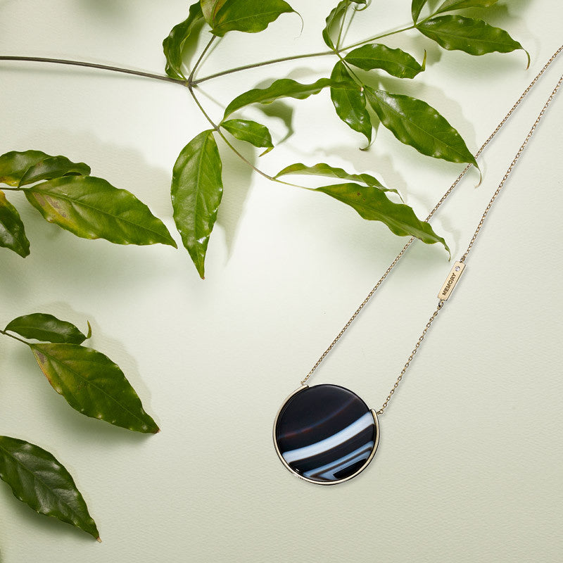 Reversible Galaxy Long Necklace-BLACK