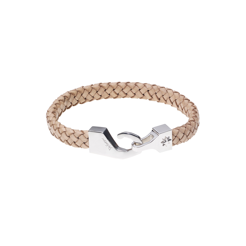 North Pole Leather Bracelet-BEIGE