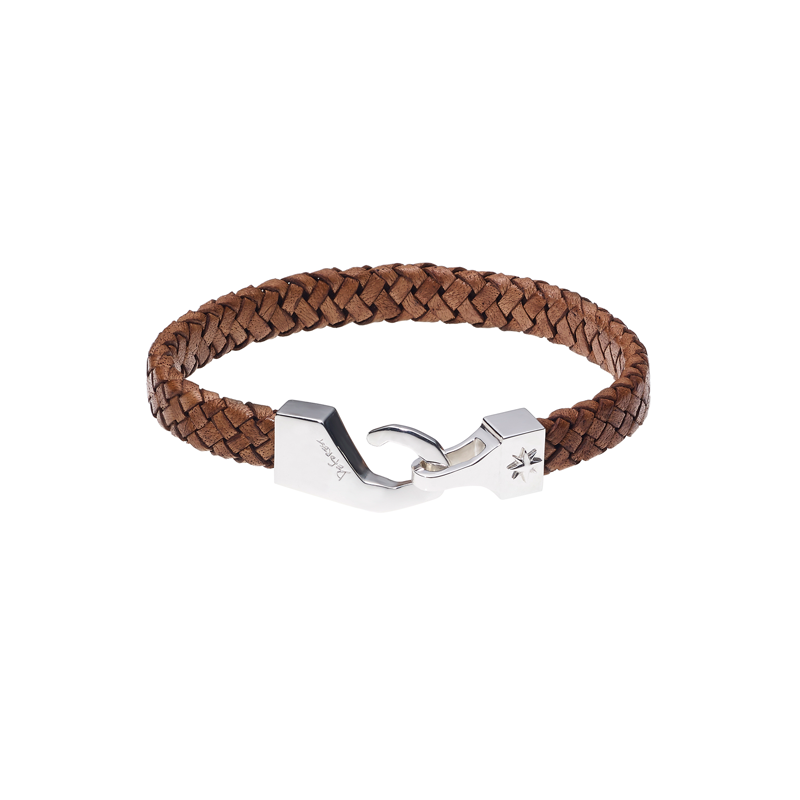 North Pole Leather Bracelet-BROWN