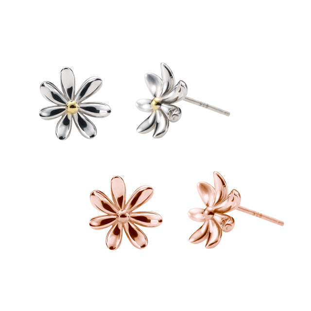 Botanical Garden Daisy Silver Earrings (2 color)