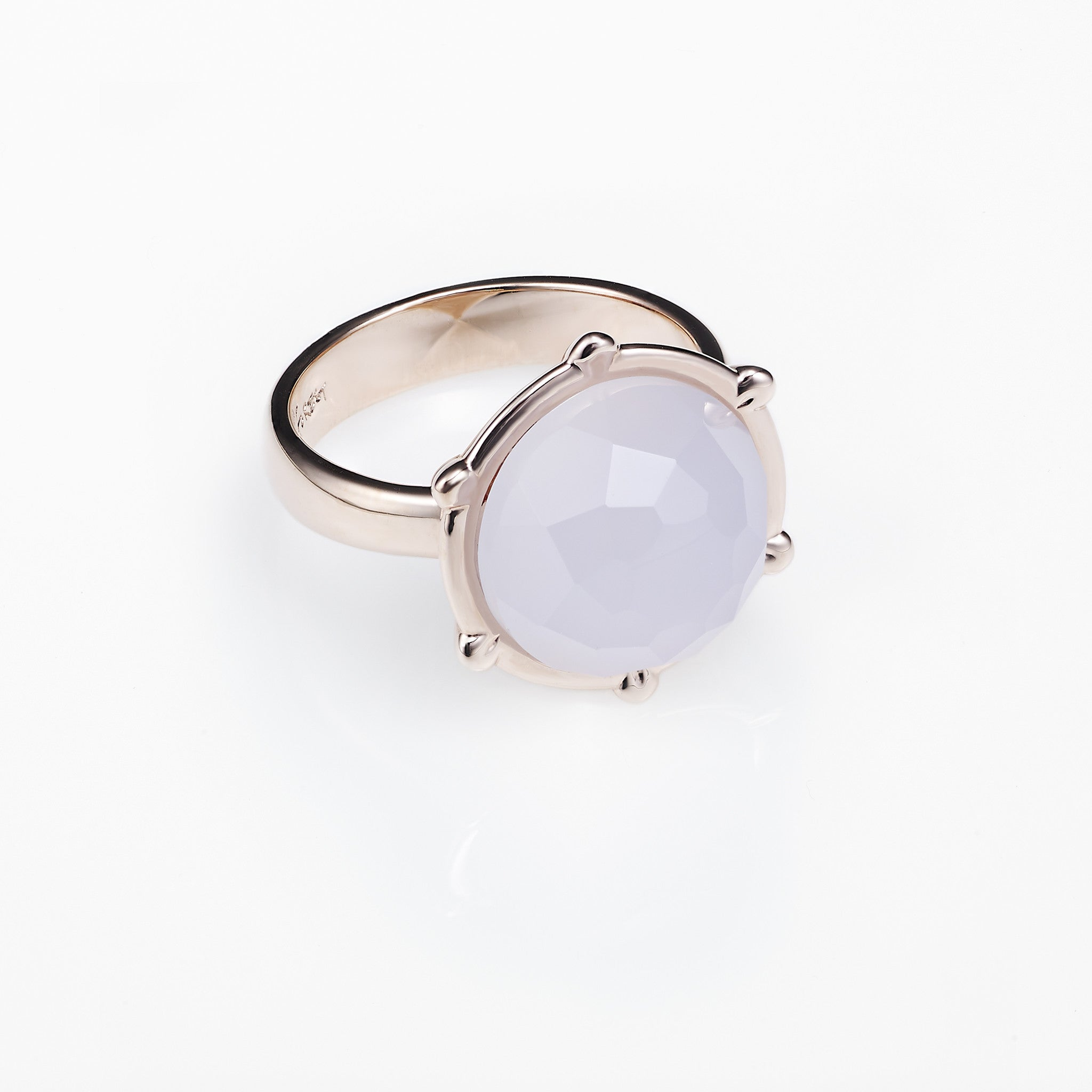 Planet Ring-Blue Chalcedony