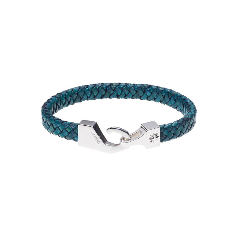 North Pole Leather Bracelet-GREEN