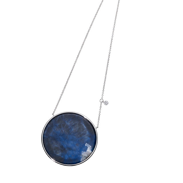 Full Moon Long Necklace-925 Silver