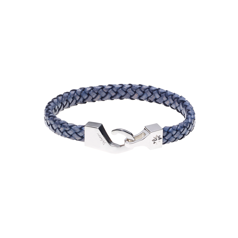 North Pole Leather Bracelet-NAVY